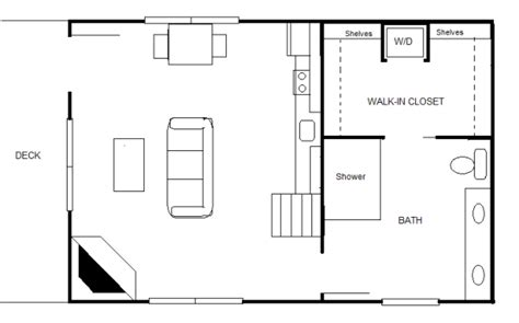 20 x 30 floor plans 840 sq ft 20 x 30 cottage for two