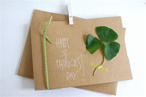 St Handmade - st s day clover card lovebugs and