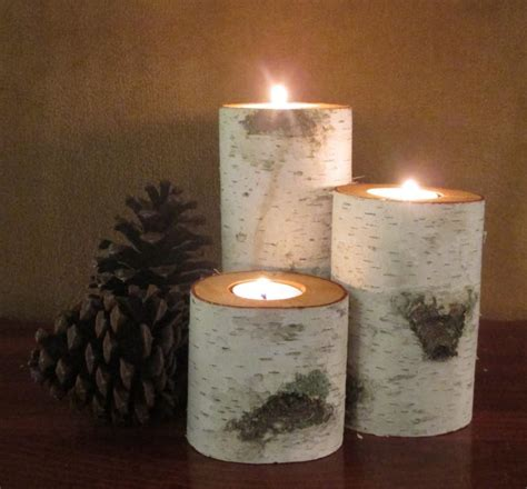candle centerpieces for home home decor birch wood candle holders wedding decor