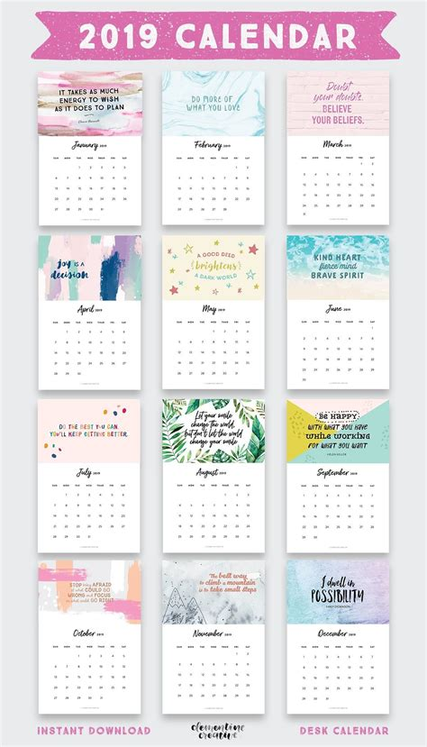 printable  inspirational quotes calendar planejadores ideias de calendario  planejador