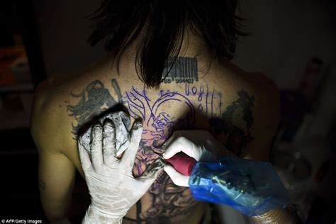 barcode tattoo theme colombia s cali tattoo festival 22 most frightening photos