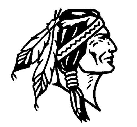 indian face coloring page colored page indian with braids painted by anonymous