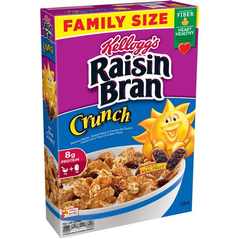 B W Cereal by Kellogg S Raisin Bran Crunch Cereal 24 8 Ounce Box