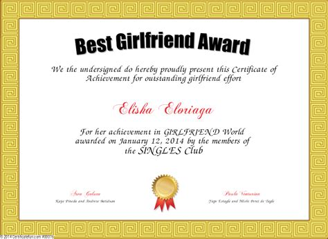 best gf best award certificate created with