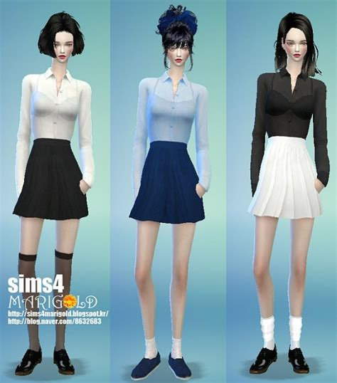 Hoodie Sweater One One Kill Overwatch Geminicloth skirt shirt acc at marigold 187 sims 4 updates