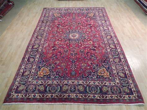 knotted rugs quality knotted carpet 7x11 semi antique mashad rug quality iranian carpet