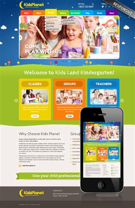 free preschool website templates responsive planet theme 111822 simple