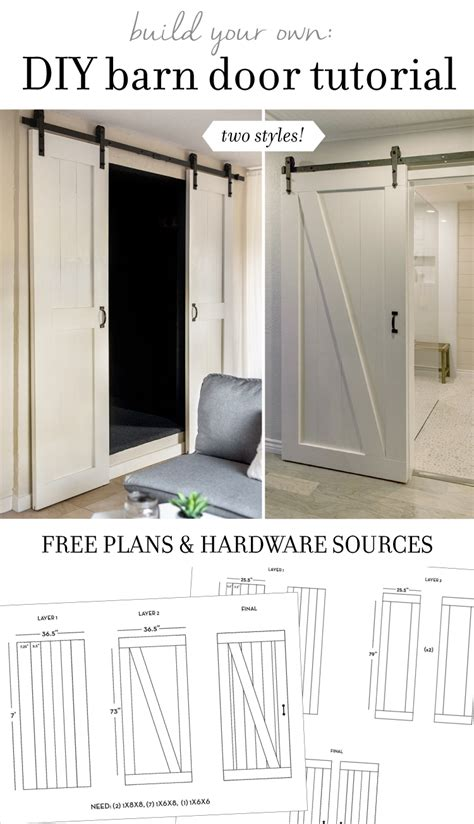 Diy Sliding Barn Door Plans Diy Barn Door Plans Tutorial Sue Design