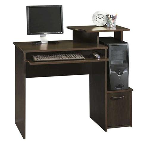 Beginnings Computer Desk Sauder Beginnings Cinnamon Cherry Desk With Storage 408726 The Home Depot