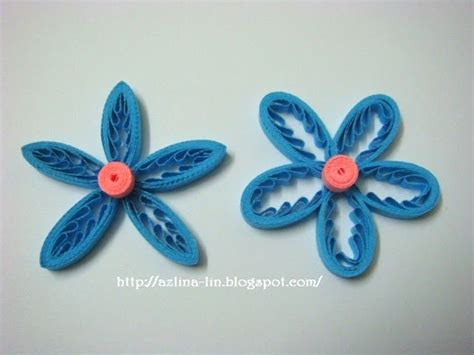 paper quilling tutorial with comb azlina abdul tiny loops flower part 2