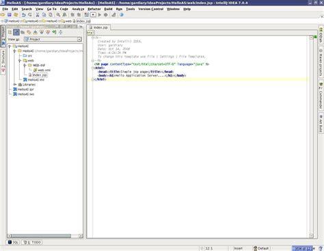 hot hot configuration configuring intellij idea with application server