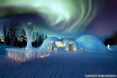 igloo to watch northern lights spend the night in an ice hotel or igloo after watching