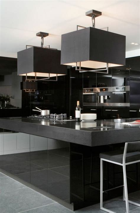 black kitchen island contemporary kitchen airoom 22 bold black kitchen design inspirations
