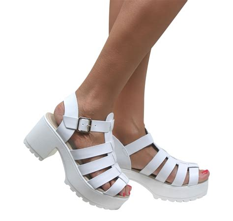 block heel gladiator sandals gladiator cut out sandals cleated sole chunky