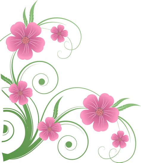 decorative art flowers flowers png clipart best