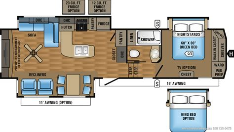 5th wheel trailer floor plans 2 bedroom 2 bath fifth wheel autos post