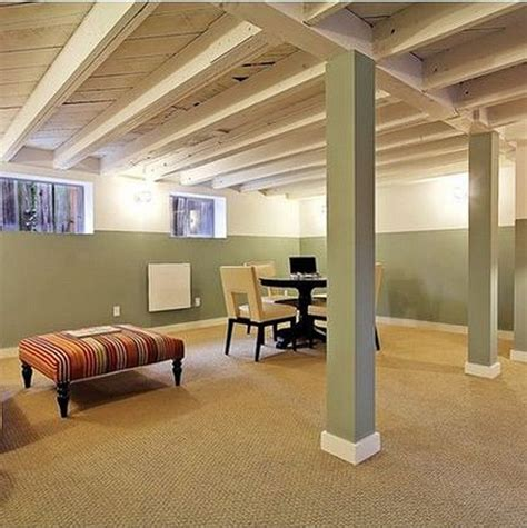 1000  ideas about Basement Ceilings on Pinterest   Basement layout, Family room design and