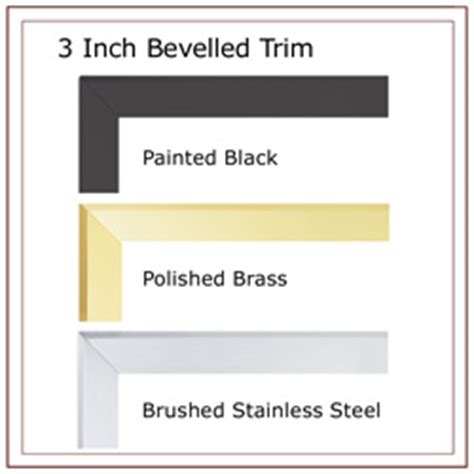 Gas Fireplace Trim Kits by Napoleon 3 Inch Bevelled Gas Fireplace Trim Kit For