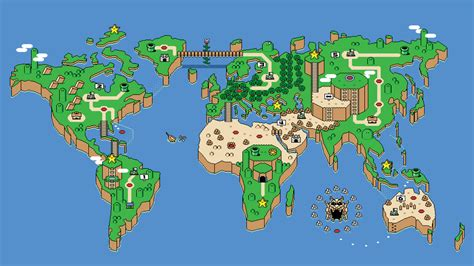 mario world map mario map nature s wallpapers