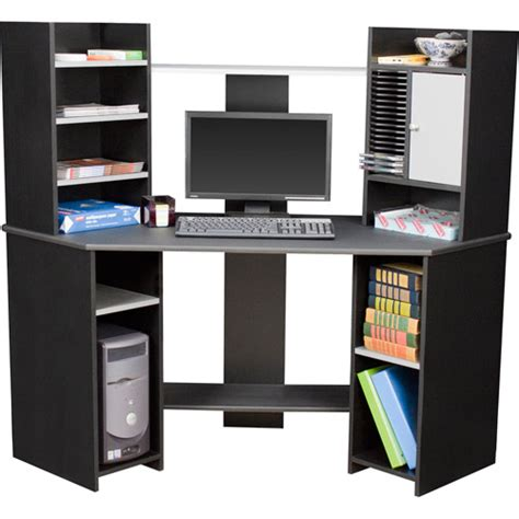 corner computer desk black and gray walmart