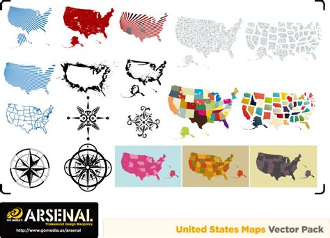 usa map vector image free gomedia produced map compass vector free vector 4vector