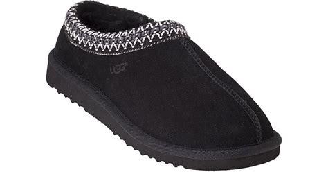 ugg tasman slipper ugg tasman slipper black suede in black lyst