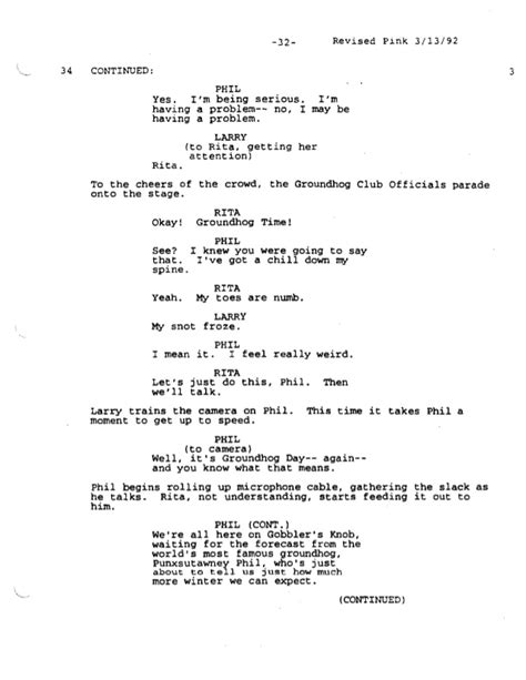 groundhog day screenplay groundhog day screenplay 28 images groundhog day