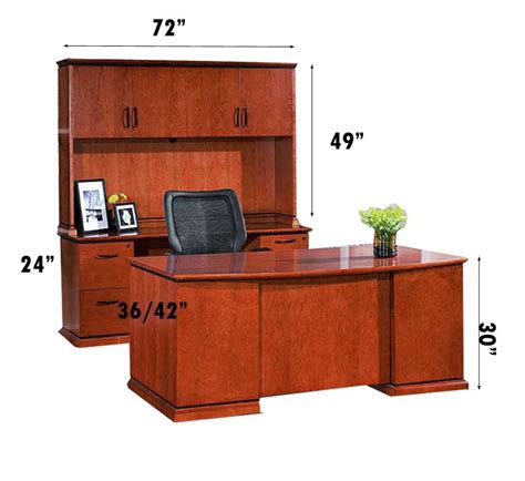 All Wood Desks by New 7 Pc All Wood Executive Office Desk Set Ch Eme D4 Ebay