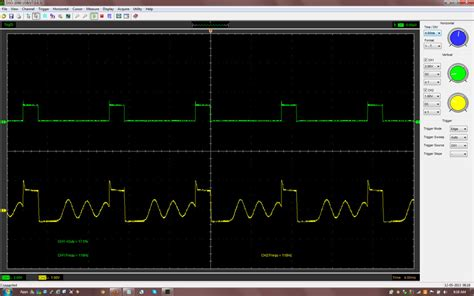 scope capacitor effect ded oscillations start with a delay electrical engineering stack exchange