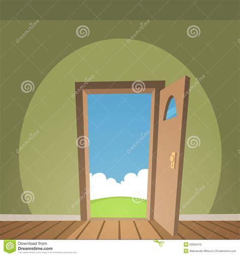 open door stock vector image 50092470