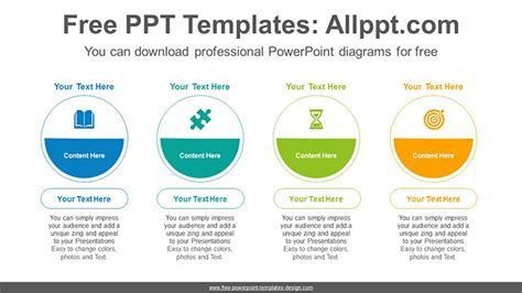 Colorful Semi Circle List Powerpoint Diagram Template Powerpoint List Templates