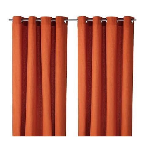 ikea gardinen orange mariam curtains 1 pair ikea