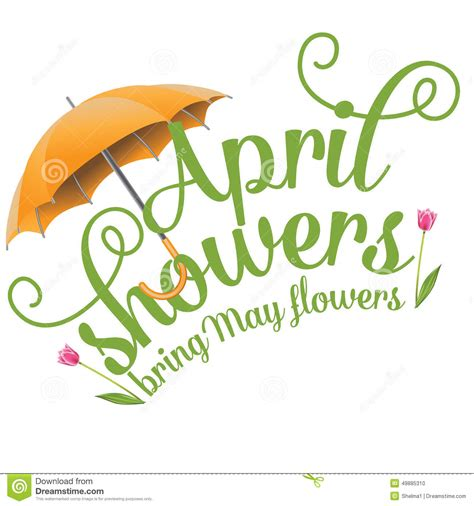 April Showers Bring by Pin April Showers May Flowers Clipart On