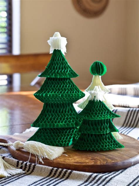 easy assemble christmas tree how to make an easy tree centerpiece hgtv