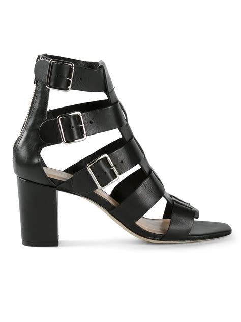 loeffler randall sandals lyst loeffler randall maia sandals in black