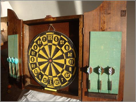vintage dart board cabinet dart board backing home design ideas
