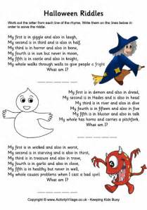 halloween riddles halloween puzzles for kids