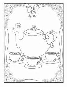 tea coloring pages tea coloring page coloring home