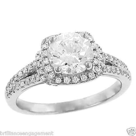 square halo engagement ring 1 50 ct