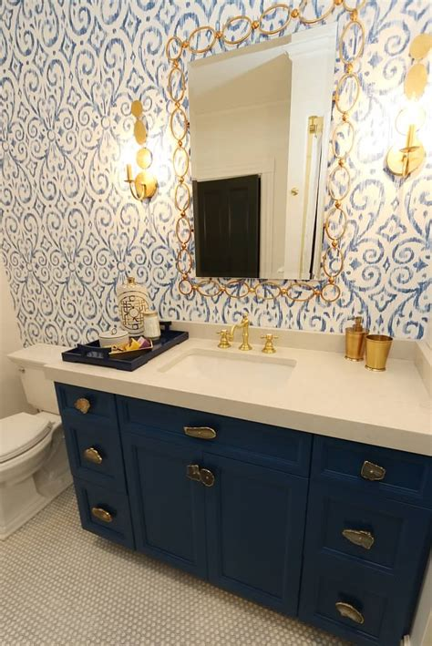 Blue bathroom vanity remodelaholic 25 inspiring and colorful bathroom vanities 36 quot