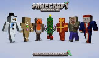 Minecraft xbox 360 edition festive skin pack on sale news indie db