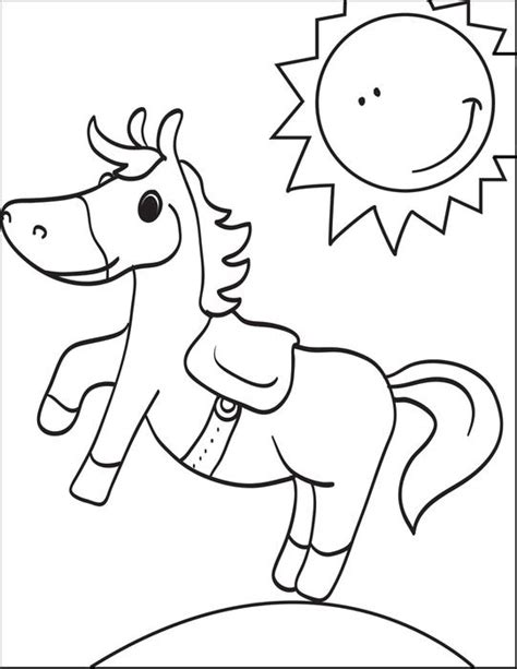 coloring pages of cartoon horses free printable cartoon horse coloring page for kids 3
