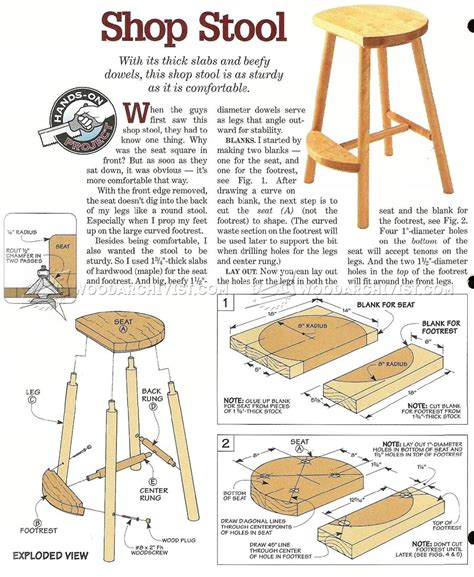 shop stool plans woodarchivist