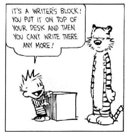 humour writing the of being books how i avoid writer s block ish ism