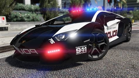 police lamborghini lamborghini aventador pursuit police add on