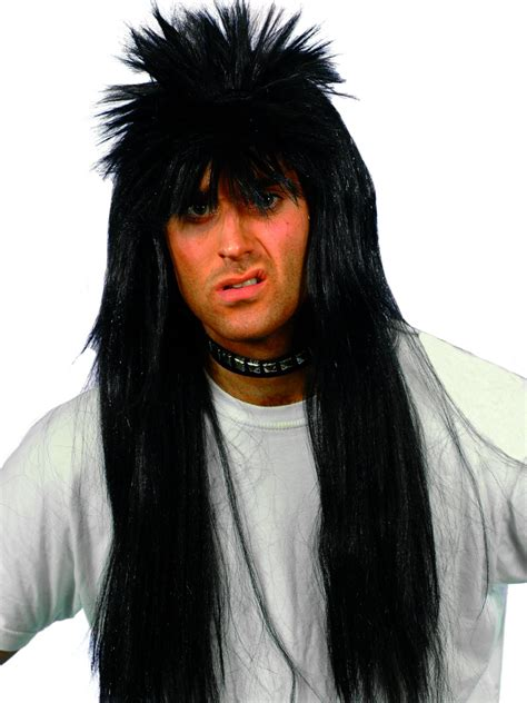 spiked wigs long black spiky wig