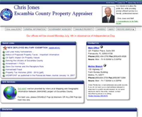 Escambia County Florida Property Tax Records Escpa Org Escambia County Florida Property Appraiser