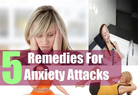 5 home remedies for anxiety attacks treatments