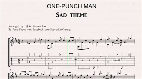 theme line one punch man one punch man sad theme quot fingerstyle guitar quot tab youtube