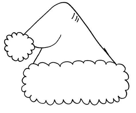 coloring page of a santa hat santa hat clipart template pencil and in color santa hat
